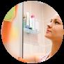 Cómo limpiar los vidrios del baño