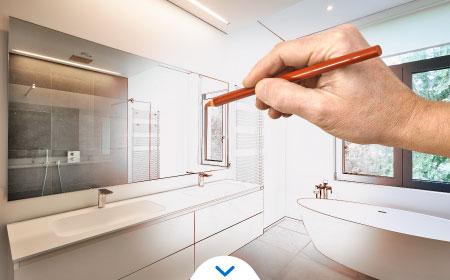 remodelación de un baño - Ilustrando baño