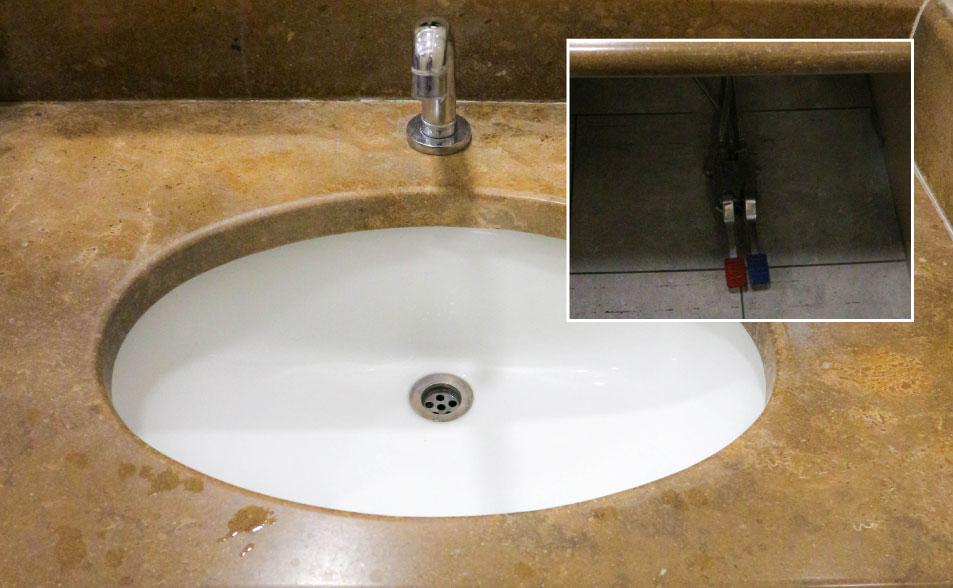 Adecuación de espacios lavamanos pedal
