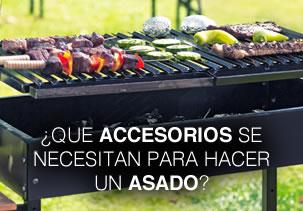 ¿Que accesorios se necesitan para hacer un asado?