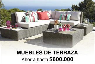 Decoraci n para el hogar muebles for Columpio de terraza homecenter