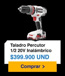Taladro Percutor 1/2 20V Inalámbrico