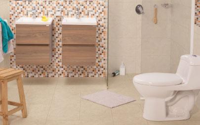 5 alternativas para darle un toque de color a tu baño