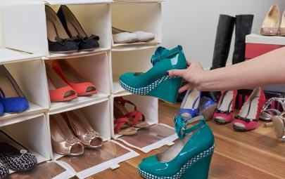 organizar zapatos en espacios pequeños