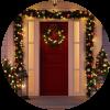 5 ideas para aprender como adornar  una puerta en Navidad