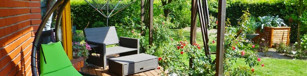 Los jardines terrazas o patios son los lugares for Columpio de terraza homecenter