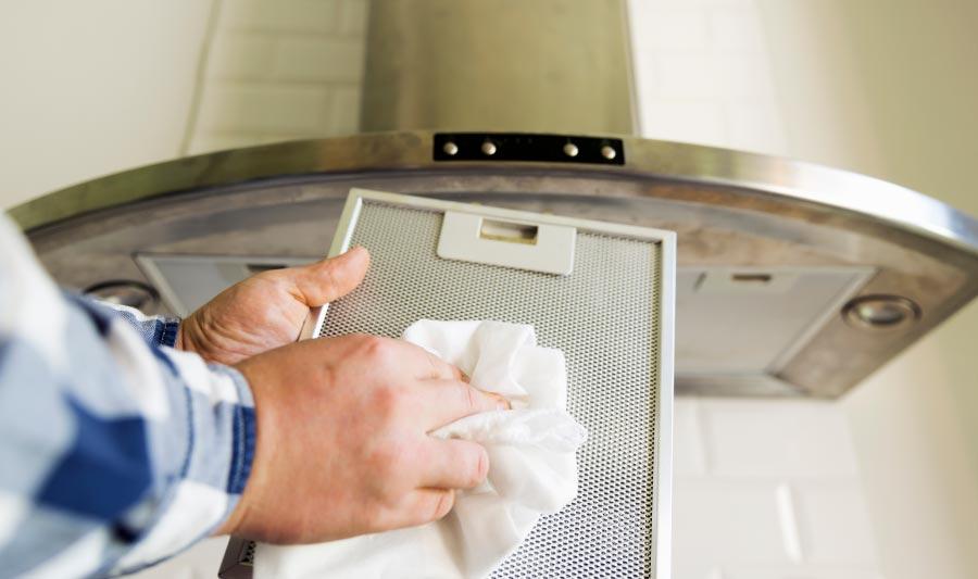 Cómo limpiar extractor de cocina con jabón para la loza