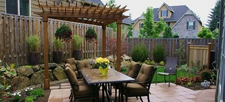 ideas para decorar patios - terraza amplia