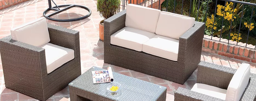 ideas para decorar patios - muebles