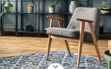 tipos de alfombras - sala con alfombra