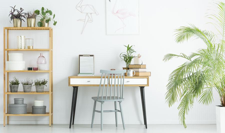 Tipos de diseño de escritorio forma recta
