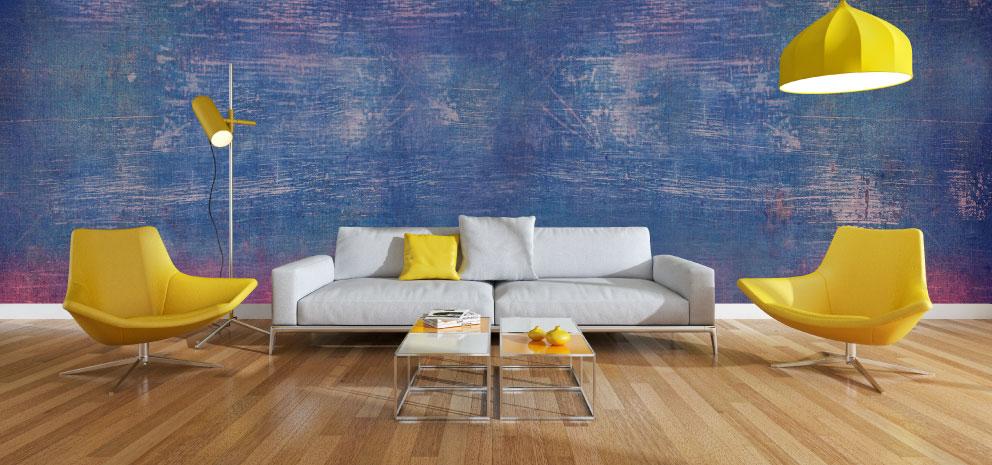 estilos de salas - sala moderna colorida