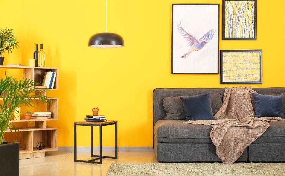 significado de los colores para tu casa - color amarillo