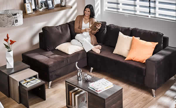 Sala multiestilos for Muebles estilo l